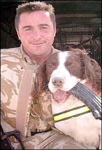 Buster with handler Sgt Danny Morgan