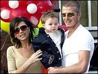 Victoria, Brooklyn and David Beckham