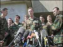 US special force commanders give a rare press conference in Halabja