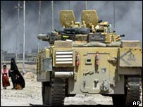 UK armoured vehicle in southern Iraq