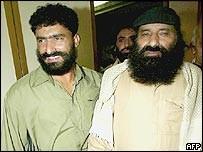 Hizbul chief Syed Salahuddin (right)