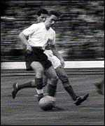 Brian Clough playing football