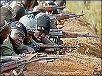 Rebel soldiers in Ivory Coast