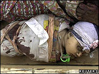 Iraqi baby wrapped in a funeral shroud - Hilla