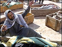 Razek al-Kazem al-Khafaji, who lost his whole family in Hilla