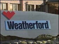 Weatherford sign
