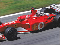 Michael Schumacher's Marlboro-sponsored Ferrari