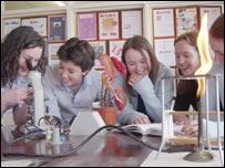 Pupils at Withington Girls' School