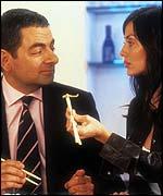 Rowan Atkinson and Natalie Imbruglia