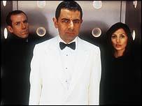 Ben Miller, Rowan Atkinson and Natalie Imbruglia