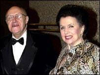 Mstislav Rostropovich with his wife Galina Vishnevskaya