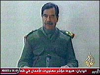 Al-Jazeera broadcast of Saddam Hussein