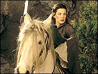 Actress Liv Tyler in the Lord of the Rings