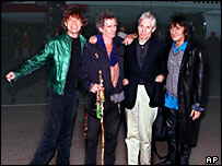 Rolling Stones (left to right) Mick Jagger, Keith Richards, Charlie Watts and Ron Wood