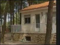 Villa where their bodies were found