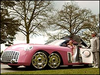 Lady Penelope's car from the Thunderbirds movie