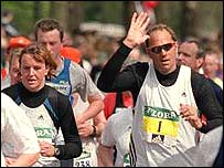 Sir Steve Redgrave and wife, Ann, in 2001