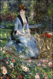 Bức Trong vườn hồng của Renoir