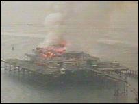 West Pier fire, 28 March 2003