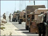 US army convoy en-route to Baghdad