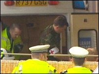 Ambulance at the Royal Infirmary of Edinburgh