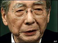 Japanese Finance Minister Masajuro Shiokawa