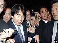 Japanese Economics Minister Heizo Takenaka