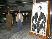 Iraqi officials in Saddam International Airport in Baghdad