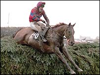 Red Marauder goes over Bechers Brook in 2001