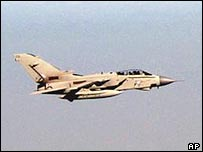 UK Tornado aircraft flying over Iraq