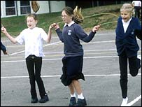 Children skipping