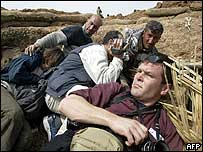 Journalists take cover in northern Iraq