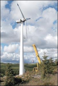 Pantperthog wind turbine