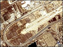 Satellite picture of airport