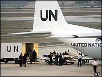 UN aircraft at Baghdad airport