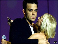 Robbie Williams and Geri Halliwell