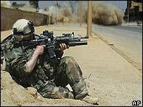 US soldier in Najaf