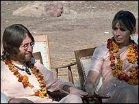 John Lennon with wife Cynthia. He had already met Yoko Ono