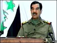 Saddam's second TV appearance since war broke out
