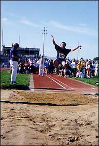 Murray Beehan long jumping