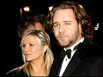 Russell Crowe with Danielle Spencer