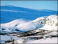 Snowy scene in Lapland