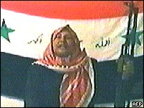 An alleged Iraqi suicide bomber in a tape broadcast on al-Jazeera