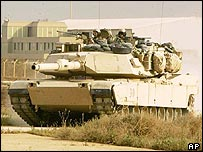 US Abrams tank at Baghdad airport