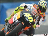 Rossi won by more than six seconds