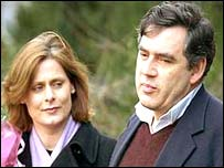 Gordon Brown and his wife Sarah
