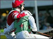 Jockey Ruby Walsh (left) congratulates winner Barry Geraghty