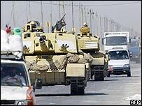 British Challenger tank in Basra