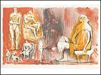 A Henry Moore print. Copyright: Henry Moore Foundation. Used with permission