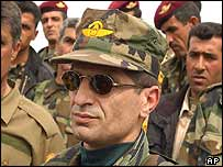 Kurdish special forces commander Wajy Barzani, brother of Massoud Barzani, leader of the Kurdistan Democratic Party (KDP)